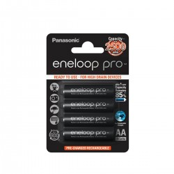 Panasonic Eneloop Pro Bateria AA Recargable 2500 mAh (4 Unidades)