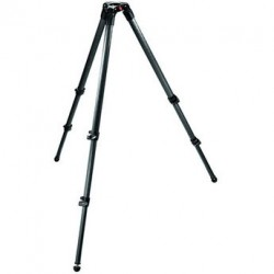 Manfrotto Trípode Video MPRO 535, 3 secciones. Semi esfera 75 - Carbono