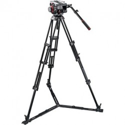 Manfrotto Trípode Video PRO 545GB. Patas Dobles. Para semiesfera 100. Aluminio. Est. suelo