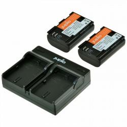 Jupio Kit Canon 2 Baterias LP-E6 + Cargador Dual USB