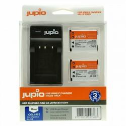 Jupio Kit Batería Li-90B/Li-92B + Cargador USB