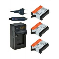 Jupio Kit GoPro AHDBT-401 Hero 4 + Cargador Triple USB