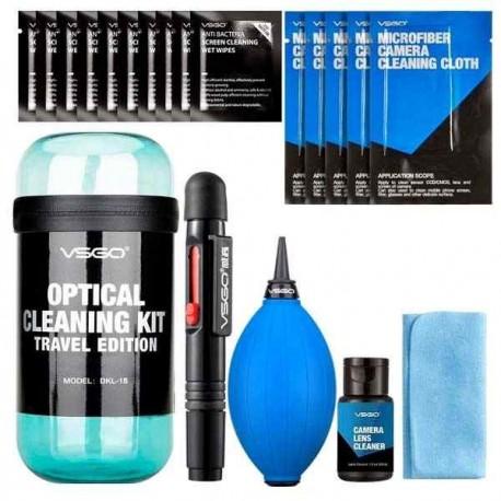 VSGO Kit de viaje para limpieza de lentes azul