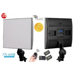 FOTIMA PANEL LED BICOLOR 650B + 2 BAT F-750 + CARGADOR