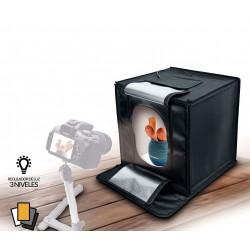 Fotima Mini Estudio Profesional 70X70 Con Iluminación LED