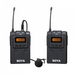 Boya Kit Micrófono lavalier Inalámbrico UHF BY-WM6