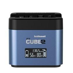 Hahnel Cargador ProCube para p/Fuji (Wp-W126)/Panasonic (BLC12/BLF19/BLG101)