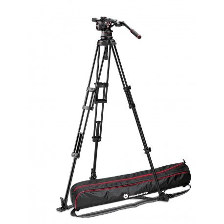 Manfrotto Kit video con Trípode aluminio PRO 545GB + Rótula Nitrotech N12. Estab. ras de suelo