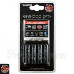 Panasonic Eneloop PRO Smart & Quick Charger + 4 AA 2500 mAh BQ-CC55E