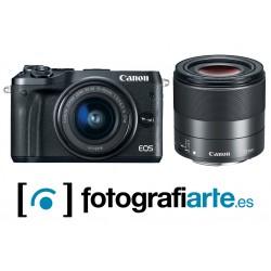 Canon Eos M6 Mark II + 32mm + Visor + Adapt
