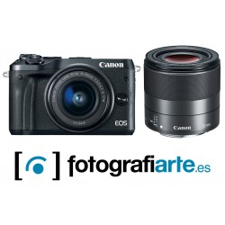 Canon Eos M6 Mark II + 15-45mm + 32mm + Visor