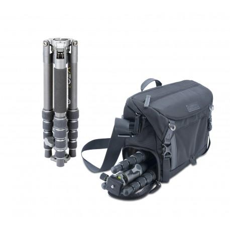 Kit de trípode Veo 2GO 265CB y bolsa Veo GO 34M BK