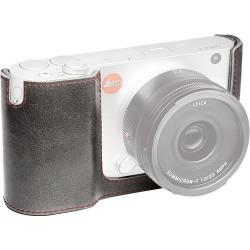 Leica Estuche semi protector en piel gris piedra